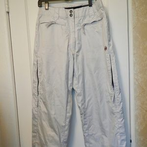 White Airwalk Snowpants Size Medium